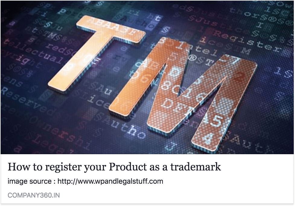 Register a product as a trademark