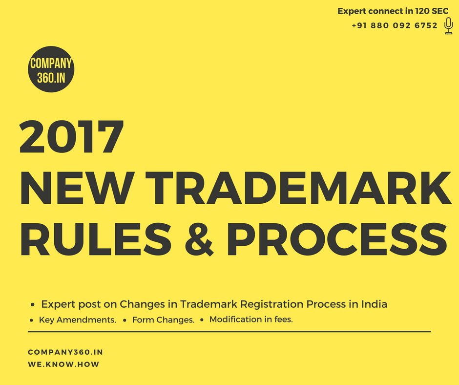 Key Amendments In Trademark Rules and Process 2017