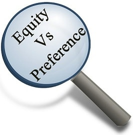 Equity shares or Preference shared in a Private Limited Company