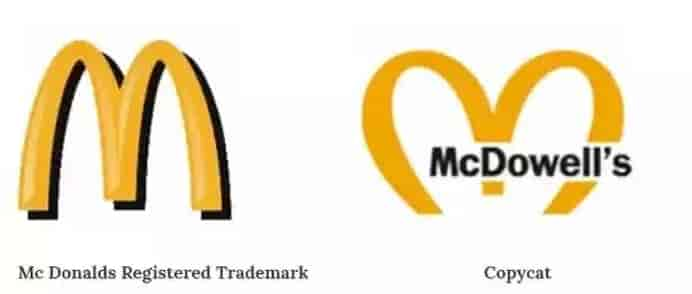 McDonalds vs McDowells Trademark Infringement