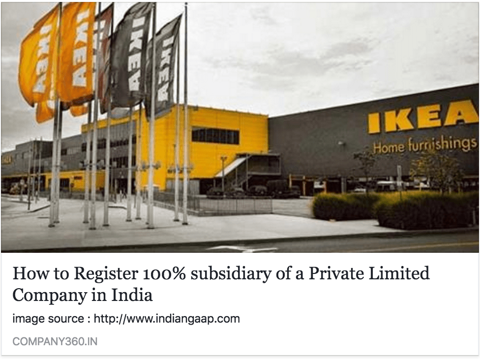 private limited company subsidiary registration