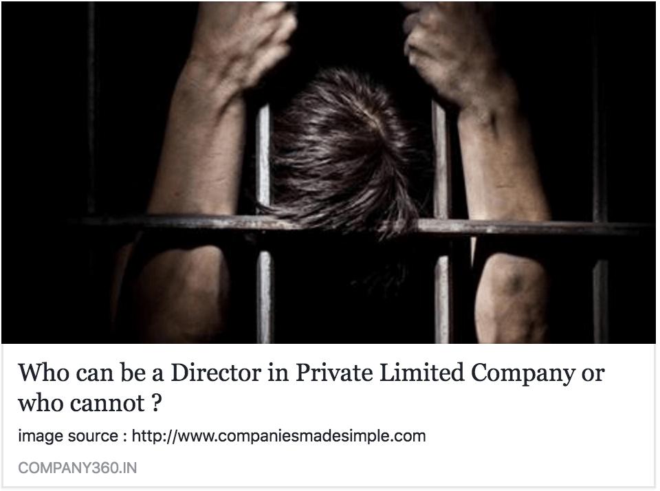 who can be director in private limited company